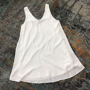 Creamy white swing dress